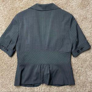 The Limited Jackets & Coats - The Limited Short Sleeve Peplum Pinstripe Blazer M
